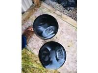 Dumbells 30kg x2 total 60kg rubber material safe for indoor use
