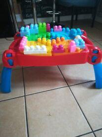 Mega blocks table with 120+ blocks