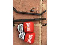Punch Bag Bracket & Gloves