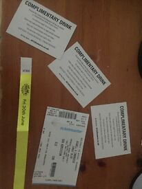 Belsonic ticket, VIP with 3 free drinks.