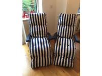Excellent condition 2 x garden chairs