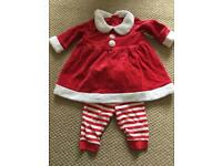0-3 Months Girls Santa outfit