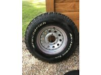 "Land Rover Defender 16"" Alloy Wheel with BF Goodrich All-Terrain T/A Tyre (Never Used)"