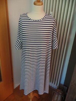 nity Kleid Umsandskleid Maritim Streifen weiß 40 42 L XL (Blue Belle Kleid)