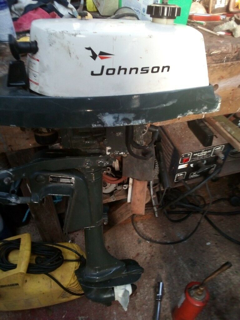Johnson 4hp Outboard Engine Motor Spares Or Repairs