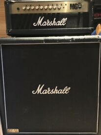Marshal Half Stack Guitar Amp And Cabinet - 100w Amp - 4x12 Cab.