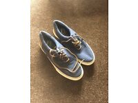 Navy blue next boating shoes