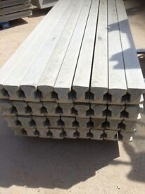 Concrete Intermedium, Corner, End and 3 Way Post 5ft,6ft,7ft,8ft,9ft,10ft