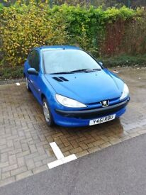 Blue peugeot 206, good and reliable small car for sale