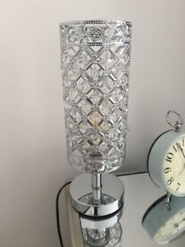 Pair of sparkly accent lamps
