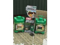 Ronseal fence sprayer and paint