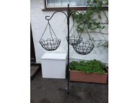 Hanging basket display stand