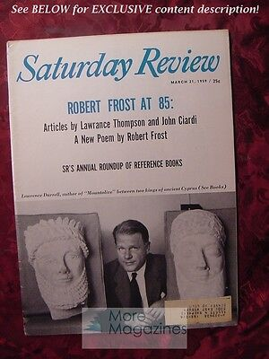 Saturday Review March 21 1959 LAWRENCE DURRELL LAWRANCE THOMPSON