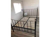 Two king sized bed frames. Black and chrome. 12 months old. £60 each or two for £100