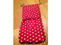 Red and White spotty bugy footmuff
