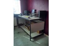 Incredibly sturdy steel-framed work desk / workstation