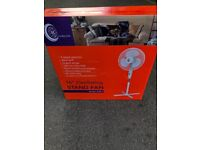 "Stand fan 16"" oscillating bran new boxed with receipt"