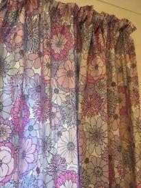 Retro Florel Curtains.