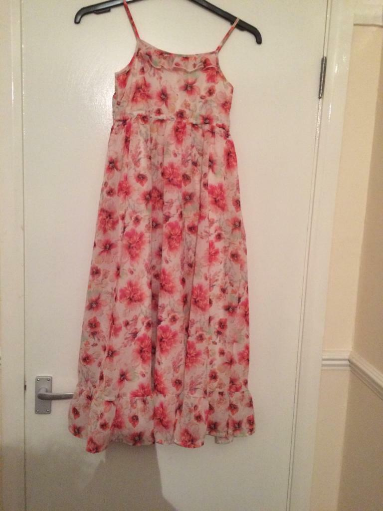 Girls Matalan size 10-11 years floral big summer dress. | in ...