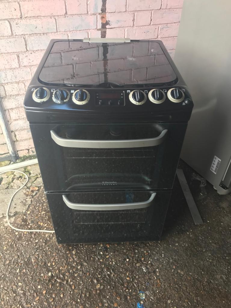 Electrolux gas cooker 55cm black