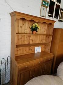 Farmhouse pine welsh dresser with 3 drawers