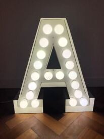 HUGE LED Vegas/Industrial Style Custom Metal Light Up Letter 'A'