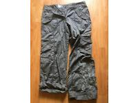"""Women's embroidered combat style trousers 31"""" inside leg"""