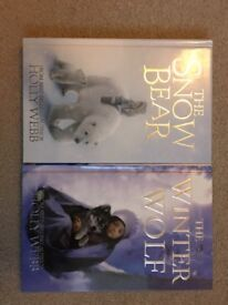 The Snow Bear by Holly Webb and The Winter Wolf by Holly Webb