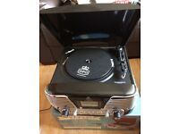 Still boxed record player