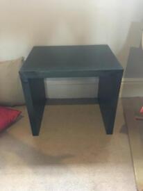 Next hi-gloss black furniture set