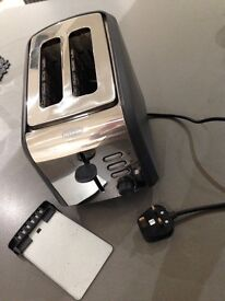Breville stainless steel & grey 2 slice toaster