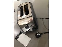 Breville stainless steel & grey 2 slice toaster