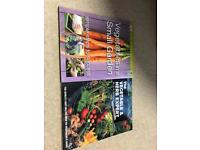 Vegetables in a small garden & the vegetable and herb expert books