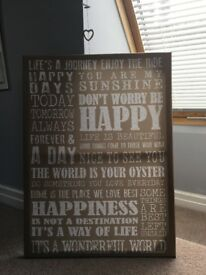 NEXT Canvas Neutral Coloured Sayings Wall Art