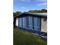 Isabella Commodore Royal Awning, A989, QR CarbonX Poles, Blue/Flax, used 4 seasons