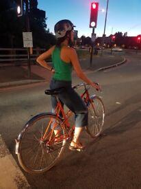 UNIQUE Peugeot ladies retro bike Mixte orange. EXCELLENT CONDITION