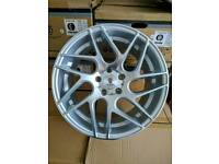 "Brand new 18"" WC st12 alloy wheels 5x112 staggered vw audi mercedes"