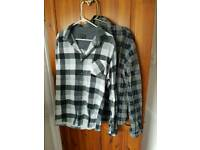 2 x mens Industrialize thick shirts. Size XXL