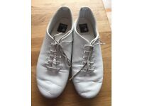 White Jazz Shoes Size 1.5 Lace Up Hardly Worn