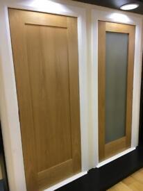 Clearance sale on pre finished oak shaker doors