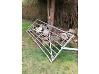 Seven bar galvanised steel field gates x2 (10ft + 4ft)