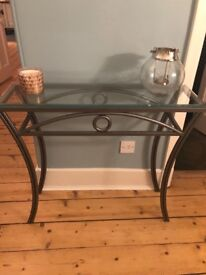Glass topped occasion table for sale. Used but in perfect condition.