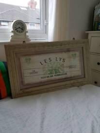 Wooden framed picture