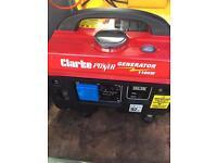 Clarke 1100W 4 stroke portable petrol generator caravan camping motorhome used for 2 hrs only