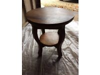 Small round solid wood table - lovely piece