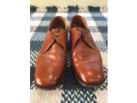 Worn Loake Richmond Size 11E UK11 Mid Tan Lace Up Shoes - Vintage