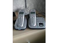 BT STUDIO 4500 TWIN CORDLESS PHONES WITH ANSWERING MACHINE GREAT USED CONDITION WOULD POST