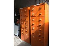 Pair Of Vintage Industrial Filing Cabinets