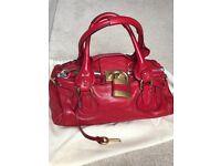 Chloe Paddington bag in red