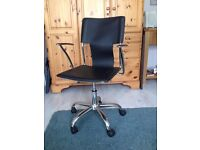 Office chair, rise and lower and swivel in good condition rarely used